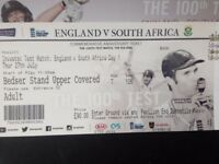 2 Tickets for 1st DAY of OVAL TEST MATCH - covered seating in ALEC BEDSER STAND