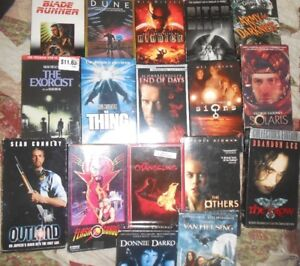 Selling Classic VHS sci fi horror movies