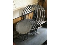 X4 Metal Dining:kitchen Chairs