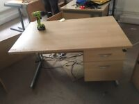 1 x quality pine office desk with built in draws just £35 Only!!