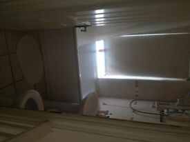 En suite double bedroom in professional shared house.
