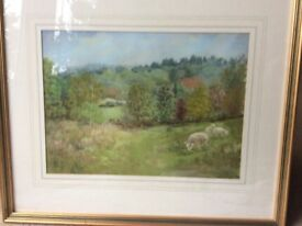 Painting in pastel of around Haslemere