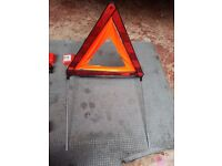 SET OF 2 BREAKDOWN EMERGENCY SIGN WARNING TRIANGLE FOLDABLE
