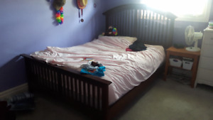 Queen Bed for sale - moving!!