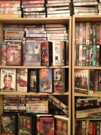 Huge collection of vhs films 600 plus