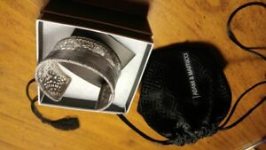 """Adami & Martucci""   sterling silver and rhodium plated bracelet"