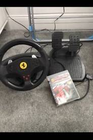 ThrustMaster Ferrari wheel pedals and PS3 game