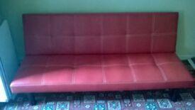 Klick Klack Red Sofa Bed