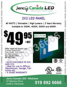 LED PANEL LIGHTS - Commercial Drop Ceiling 2x2 & 2x4 LED Panels