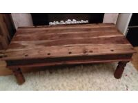 Indian wood furniture for sale (Jali Sheesham range). including a coffee table, bookcase and cabinet