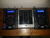 FOR SALE £150 for all KAM KCD450 USB CDJ's x2 Numark M2 mixer