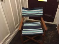 A pair of Wooden Folding Directors Chairs.