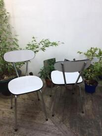 Vintage formica chairs