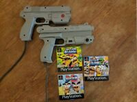 Namco G-Con 45 Light Gun for PS1 PlayStation 1 + Generic Light Gun + Point Blank