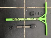 Madd Gear Pro green VX2 bars plus clamp and fork
