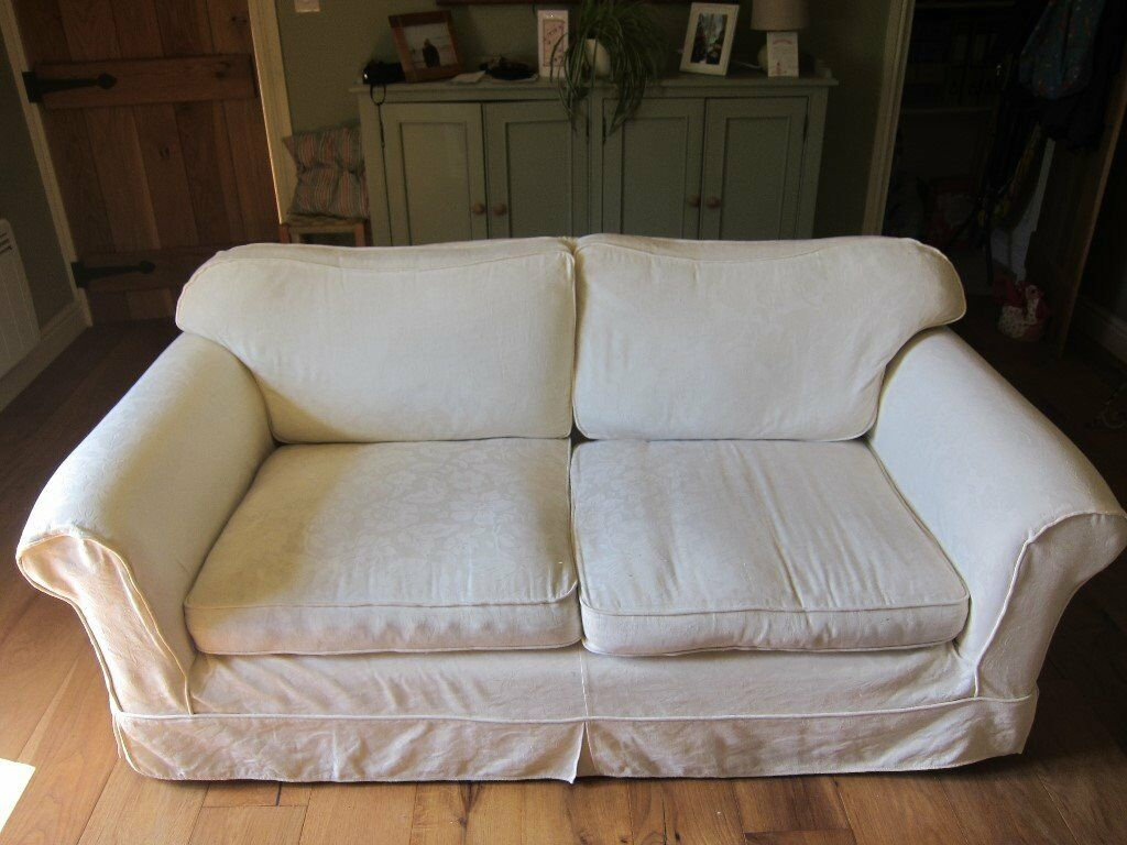 Two-seater Laura Ashley Sofa With Plumbs Loose Covers