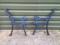 CAST IRON BENCH ENDS - HEAVY OLD TYPE