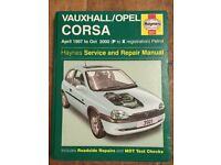 Haynes Vauxhall Corsa Service & Repair Manual