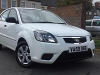 2010 (59) KIA RIO 1.4 PETROL WHITE 5 DOORS HATCHBACK 100% HPi CLEAR ( FINANCE AVAILABLE )
