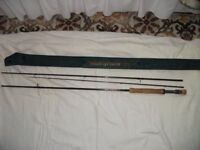 4 Fly Fishing Rods with 6 Reels and 4 interchangeable cartridges loaded with various lines
