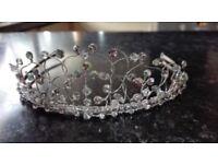 Sparkly crystal bridal tiara