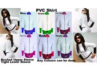 PVC JACKET TOP SHIRT Black White Red Blue Yellow 6-16 UK New With Tags