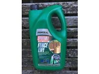 5 containers of Ronseal fence treatment - colour green