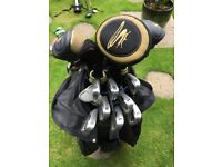 Left handed King Cobra clubs very good used condition - driverx2 5&7woods irons 5-SW