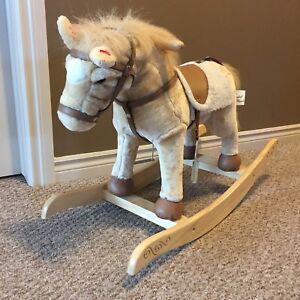 Playful Plush Rocking Horse