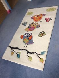 Colourful Owl Design Rug