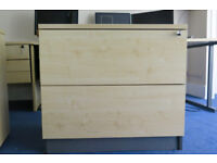 Used 'wood effect' office furniture in excellent condition