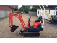 Kubota K008-3 800kg mini digger. Fantastic condition only 745hrs
