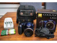 Nikon Coolpix L810 Bridge Camera (Blue)