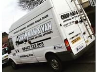 Cheap man and van for hire 24 hour