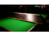 8ft Long, Full Size Snooker Pool Table Light Canopy Shade, Solid Wood, One Piece, Great Condition