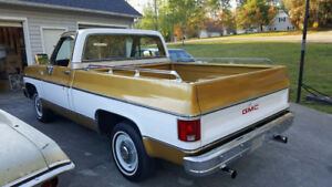 1975 GMC new take off tailgate, and 1979 GMC rad support