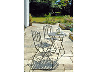 Elegant patio set - table plus two chairs, weather-proof