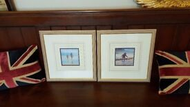 superbly framed matching pictures of the seaside