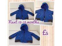 Boys Next 12 - 18 month blue jacket
