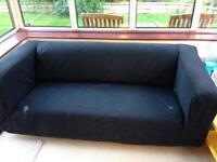 Ikea Sofa with black removable cover