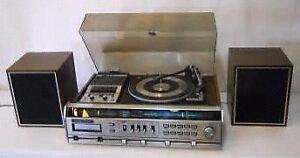 Iso vintage stereo turntable