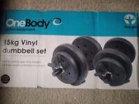 < 15kg Vinyl Dumbbell Set