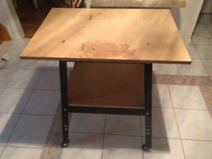 Large Solid Metal Framed Workman's Table