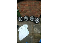 4 stud vauxhall alloy wheels 16inch
