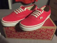 Red authentic vans size UK 7