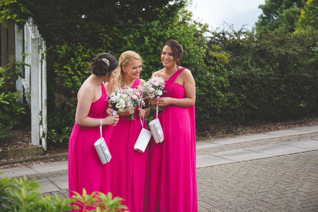 Stunning hot pink bridesmaids dresses for sale. Sizes 6 to 14 £30 ...