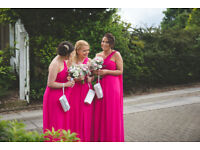Stunning hot pink bridesmaids dresses for sale. Sizes 6 to 14 £30 each or offers