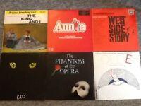27 vinyl records of musicals