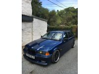 1999 (T) reg BMW 323i E36 2.5 Sport Touring Auto in Avus Blue, MOT til May 2018 etc