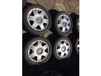"""16"""" VW Mk4 Golf Bora Sports Alloys 5x100"""